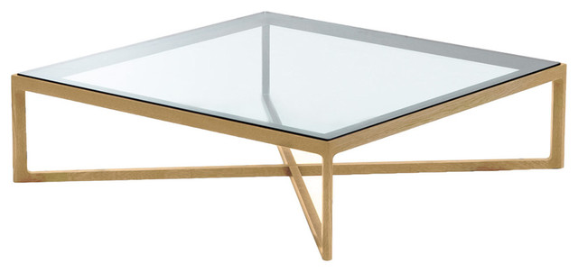 Square Coffee Table With Glass Top Krusin Square Coffee Table In Oak With Glass Top Modern Coffee Tables (View 7 of 10)