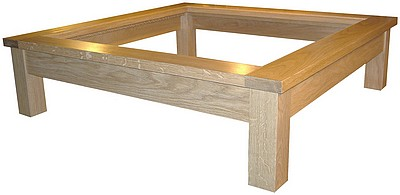 Square Coffee Tables With Glass Top Edmonton Contemporary Coffee Table In Natural Oak Veneer European (View 2 of 9)
