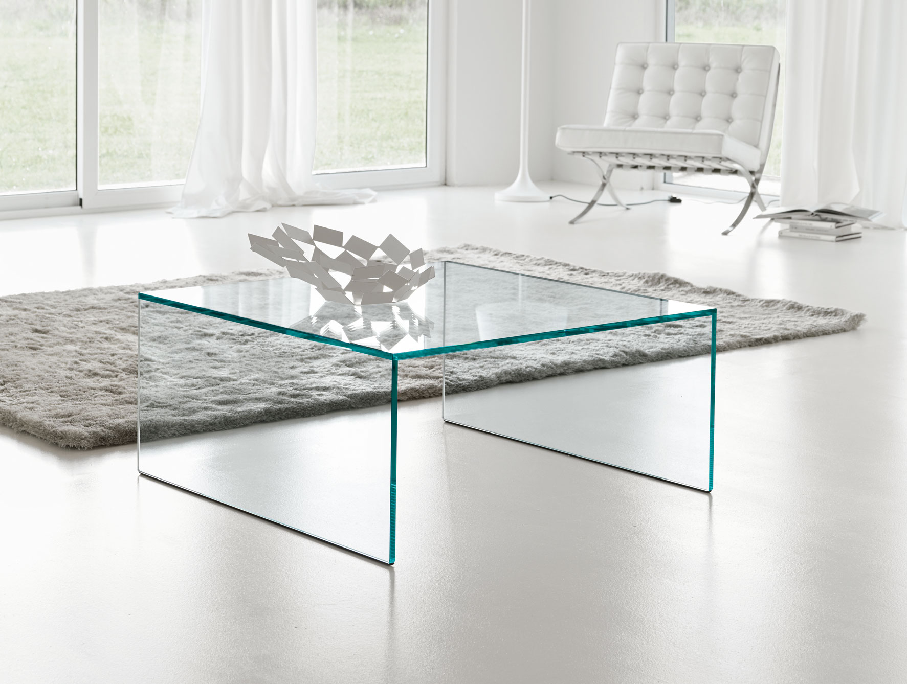 Square Glass Coffee Table Contemporary Modern Unico Fly Square Coffee Table In Choice Of 2 Finishes (View 6 of 10)
