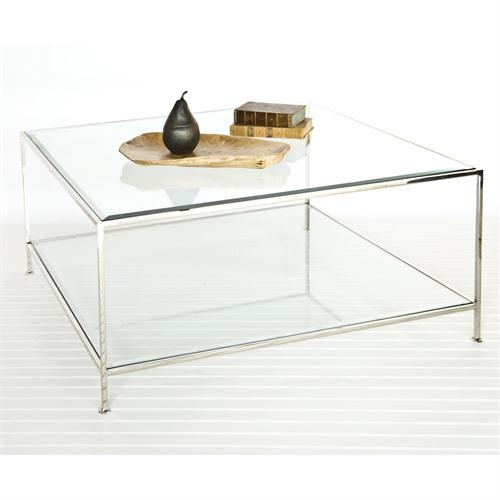 Square Glass Coffee Table Contemporary Style In Form Metropolitan Coffee Tables Square Simple Designs (View 8 of 10)
