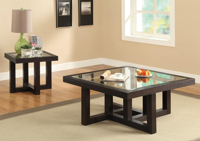 Popular Photo of Square Glass Coffee Table Contemporary