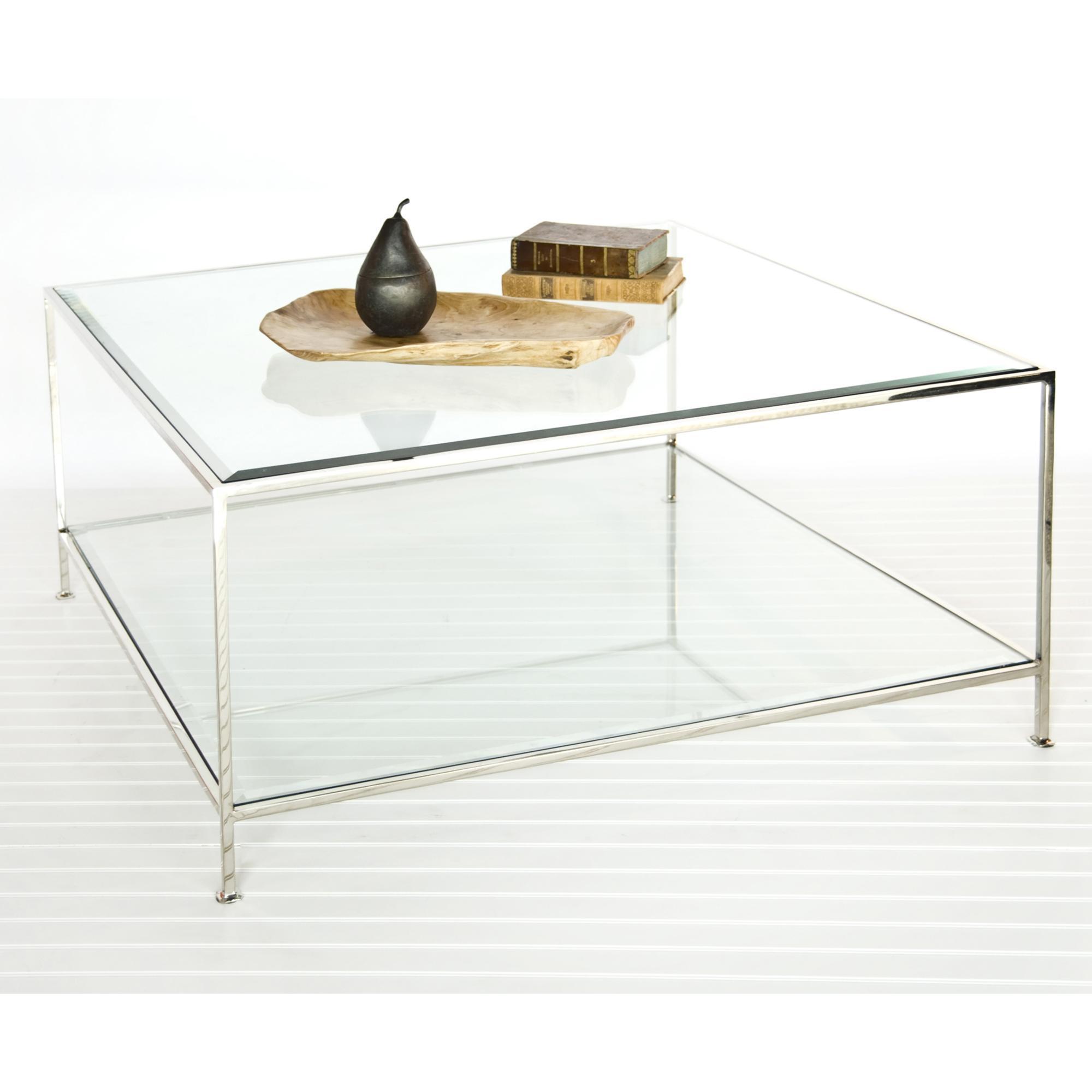 Square Glass Coffee Tables Contemporary Cocktail Table From Worlds Away Simple Designs (Photo 3 of 10)