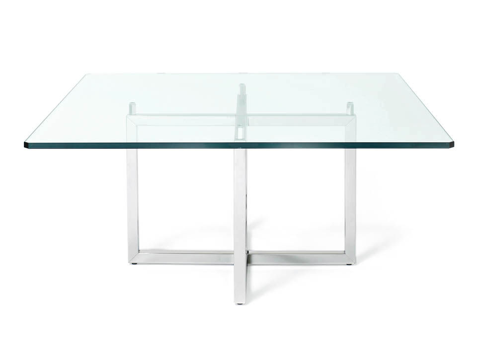 Square Glass Coffee Tables Replica Le Corbusier LC10 Large Square Glass Dining Table (Photo 8 of 10)