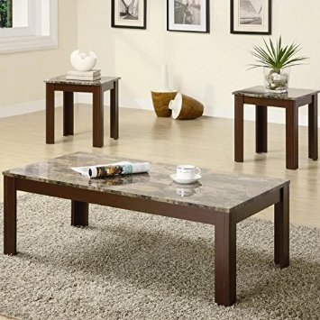 square-shape-dark-brown-3-Pieces-Coffee-Tables-Sets-ideas (Image 9 of 10)