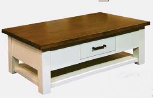 square-shape-wood-white-stained-Off-White-Coffee-Table-Set-IMPERIAL-COFFEE-TABLE (Image 8 of 9)