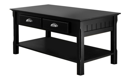 Square Wood Black Stained Small Coffee Table Sets Winsome Wood Black Coffee Table (Image 10 of 10)