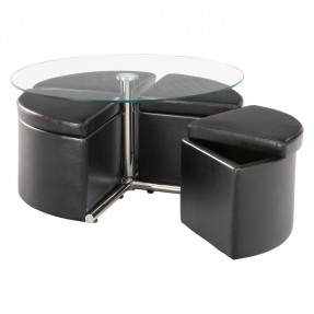 standard-furniture-cosmo-adjustable-height-round-glass-top-coffee-table-coffee-table-with-4-storage-ottomans-round-storage-coffee-tables (Image 9 of 10)
