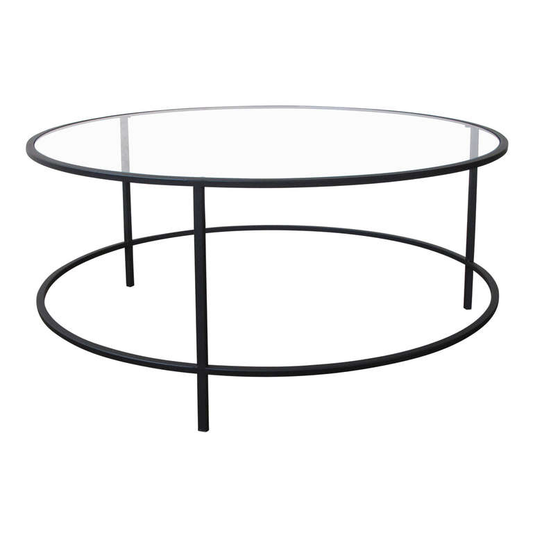Steel And Glass Round Coffee Table Round Metal And Glass Coffee Table Metropolis Modern Steel Glass Round Coffee Table Furniture Coffee And Cocktail Tables (View 8 of 10)