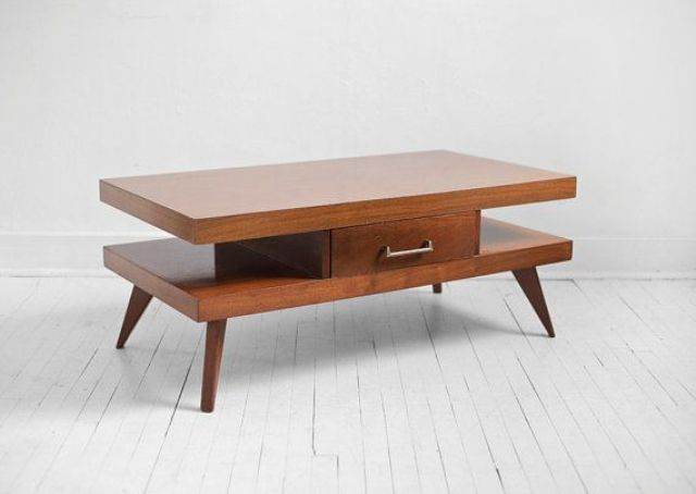 Stylish Modern Wood Coffee Table Reclaimed Metal Mid Century Round Natural Diy Contemporary Coffee Table Mid Century Modern (View 10 of 10)