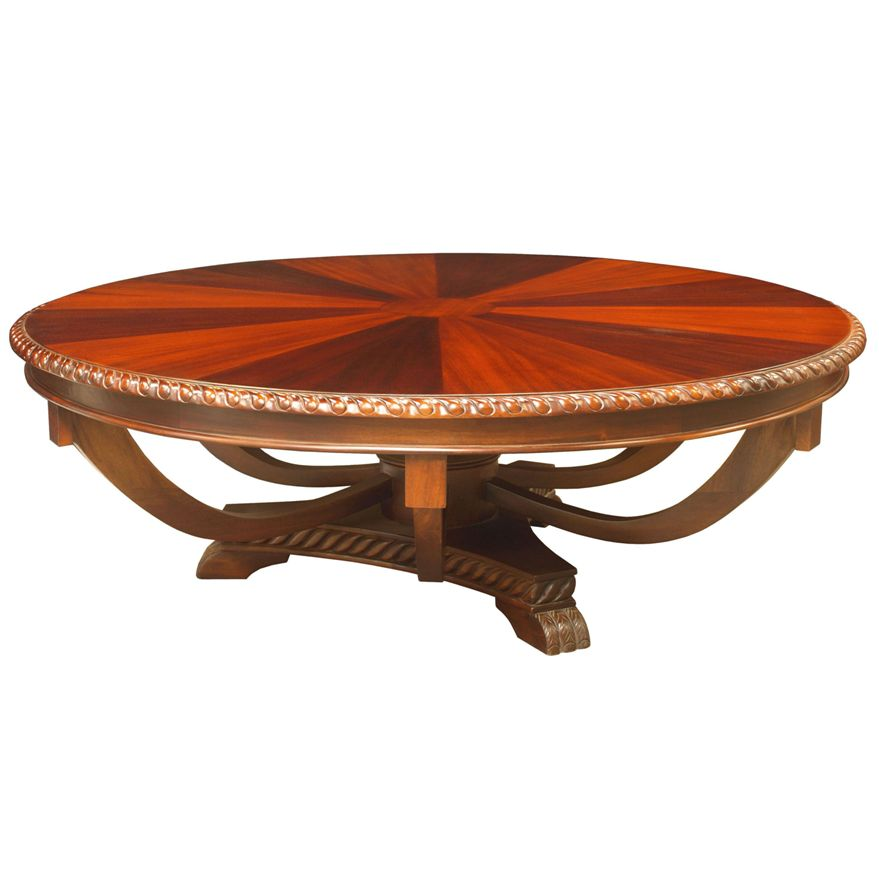 sunburst-round-coffee-table-luxury-wood-round-coffee-table-at-living-room-round-mahogany-coffee-table (Image 10 of 10)