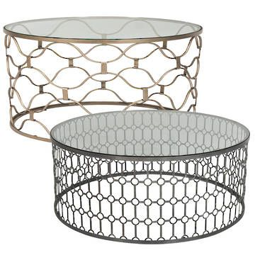 The Question Is Brass Or Corroded Metal A Little Bit Obsessed With Round 2016 Round Glass And Metal Coffee Table Design (Image 9 of 10)