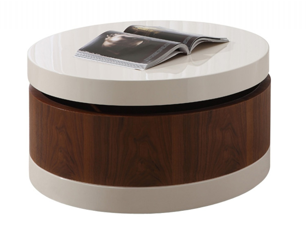 The Round Coffee Table With Storage For Any Place And Occasion Rustic Coffee Tables And End Tables Wooden Storage Tables (Image 10 of 10)