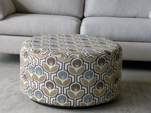 The Round Ottoman Coffee Table Option Round Flower Pattern Coffee Table Interior Round Fabric Ottoman Coffee Table (View 8 of 10)