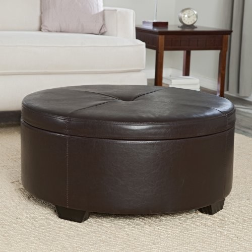 The Round Ottoman Coffee Tables Footstools And Ottomans Belham Living Corbett Coffee Table Storage Otto (Image 8 of 9)