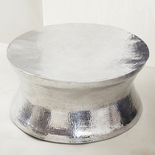 Thimble Metal Coffee Table Contemporary Coffee Tables Round Metal Coffee Tables Round Metal Tables (Image 9 of 10)