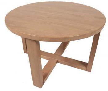 Timber Coffee Table Small Simple Round Brown Varnished Coffee Table Round Timber Coffee Table (Image 10 of 10)