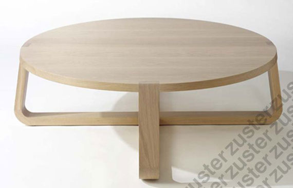 Top 10 Round Coffee Tables Zuster Jade Round Oak Coffee Table (Image 9 of 10)
