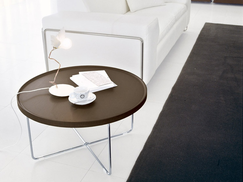 Tray Round Coffee Table Simple Minimalist Round Tray Coffee Table Design Interior For Living Room Decor Ideas (Image 10 of 10)
