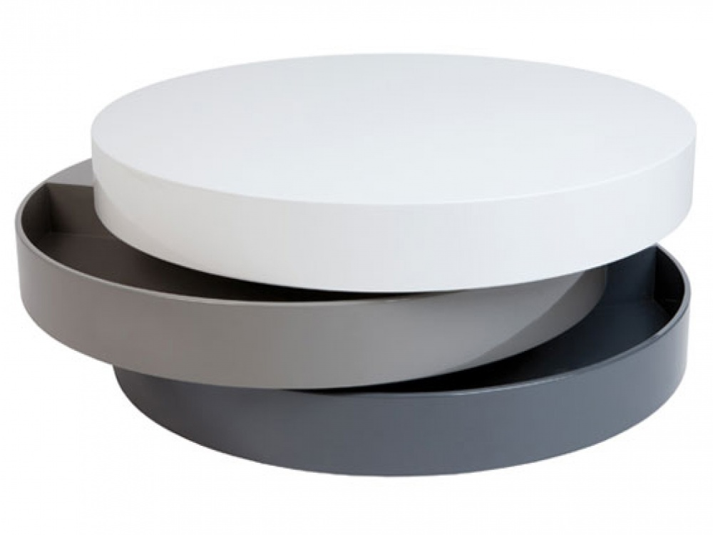 Turnable White Coffee Table With Storage Has A Rather Stylish Look Round Purchase