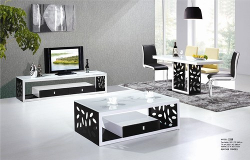 Tv Stand Coffee Table Set This Is A Brand New Contemporary Living Room Occasional Table Set This Set Includes The Matching (Image 8 of 10)