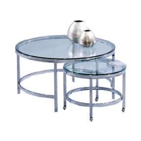 two-nesting-metal-and-glass-coffee-tables-product-small-and-large-nesting-table-construction-material-metal-and-glass-color-chrome-features-large-round-glass-coffee-table (Image 10 of 10)