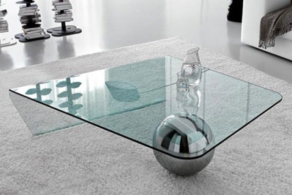 Unique Glass Coffee Table The Top Is Made From Reconstructed Limestone With Granite Chips It Can Be Finished In Different Shades To Match (Image 7 of 10)