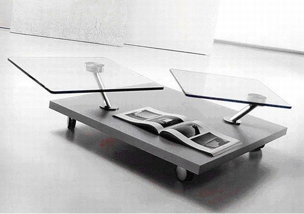 Unique Glass Coffee Table Wooden Furniture Production Became Widespread Further Advances In Industrial Technology Created New Design (Image 10 of 10)