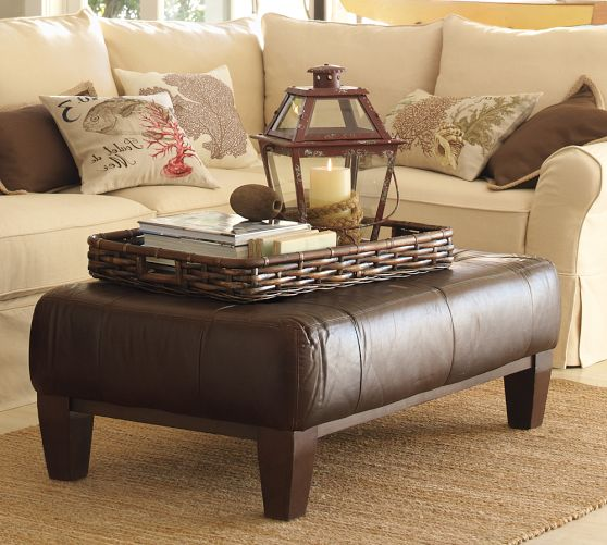 Upholstered Modern Wood Coffee Table Reclaimed Metal Mid Century Round Natural Diy Contemporary Ottomans For Coffee Tables (Image 10 of 10)