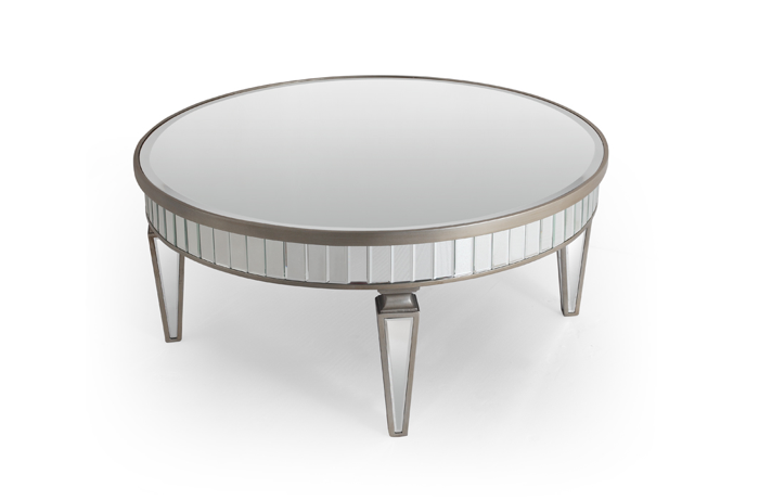 Venetian Round Coffee Table Round Mirrored Coffee Table Coffee Tables Mirrored Side Tables And End Tables (Image 9 of 10)