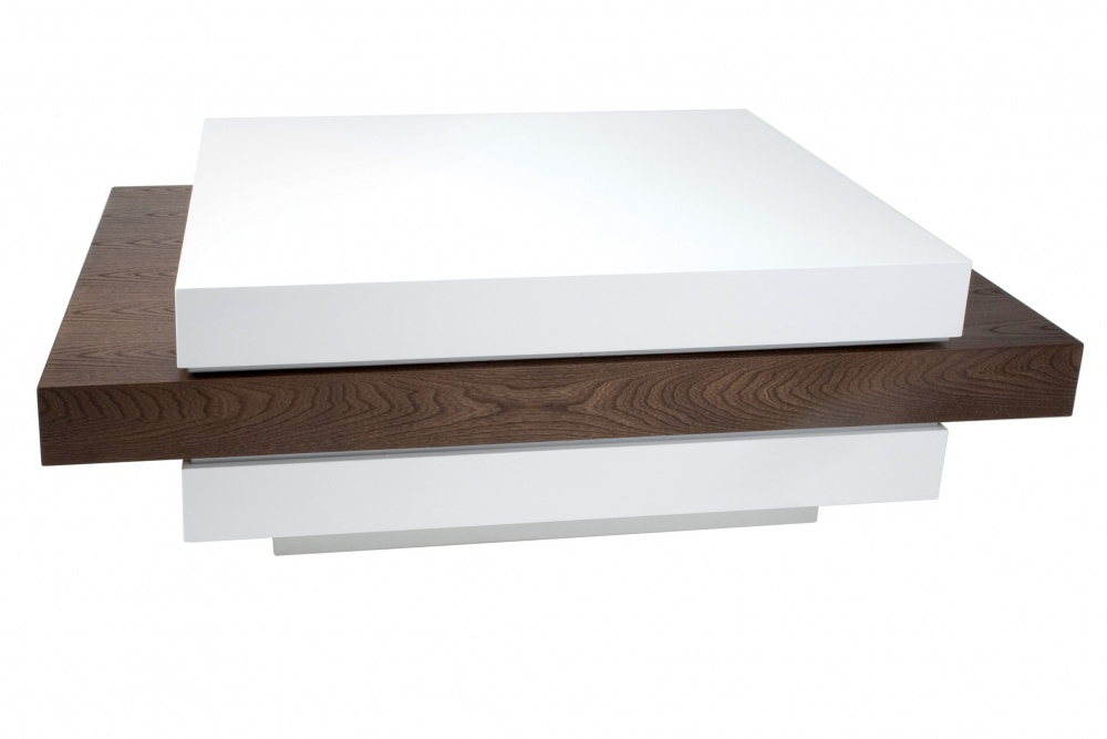 Very Modern Wood Coffee Table Reclaimed Metal Mid