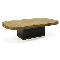 Vintage Rectangular Coffee Table With Rounded Corners And