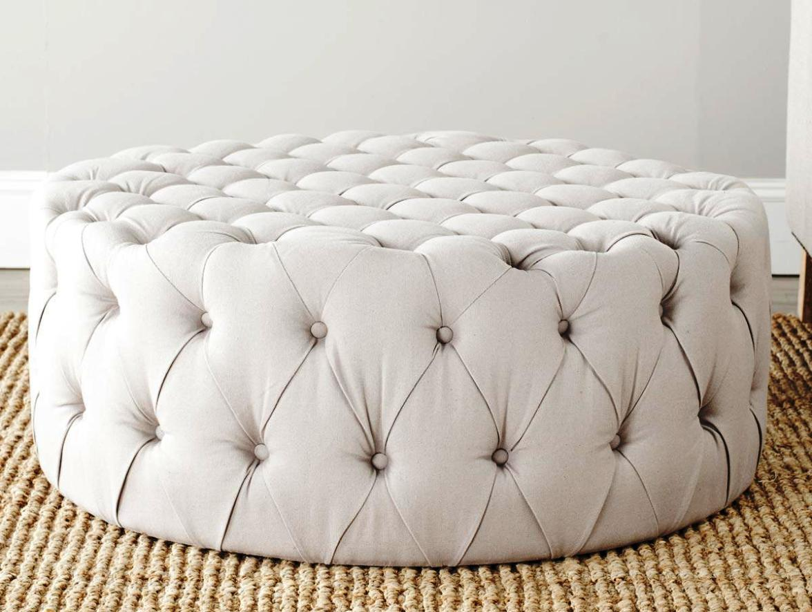 What Tufted Coffee Table Can Do Round Tufted Coffee Table Modern White Round Coffee Table Round Tufted Ottoman Coffee Table (Image 10 of 10)