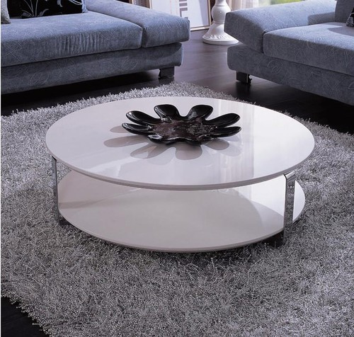 White Round Coffee Table Modern Round Coffee Table White White Coffee Tables And End Tables Small Coffee Tables (Image 10 of 10)