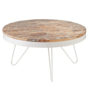 White Wood Round Coffee Table (View 6 of 10)