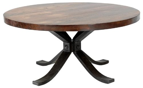 William Sheppee Rajah Round Coffee Table Round Coffee Table Rustic Distressed Wood Coffee Table Coffee Table Storage (View 10 of 10)