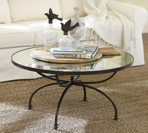 Willow Coffee Table Pottery Barn Round Mirrored Coffee Table Mirrored Coffee Tables Dallas Tx Round Mirrored Tables (Image 10 of 10)