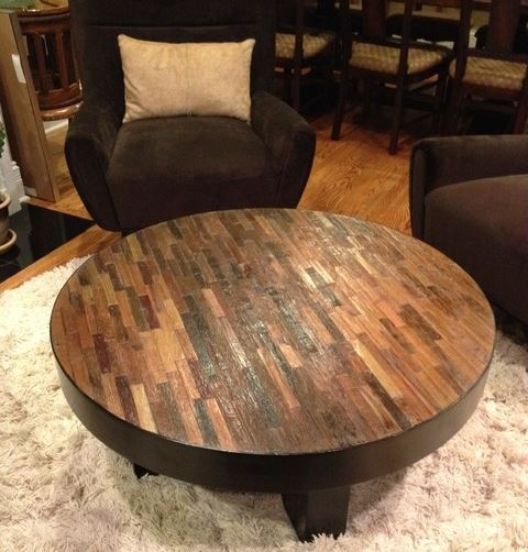 Big Round Reclaimed Wood Coffee Table 2 Sizes: Best 10+ Of Wood Glass Coffee Tables Round And Square