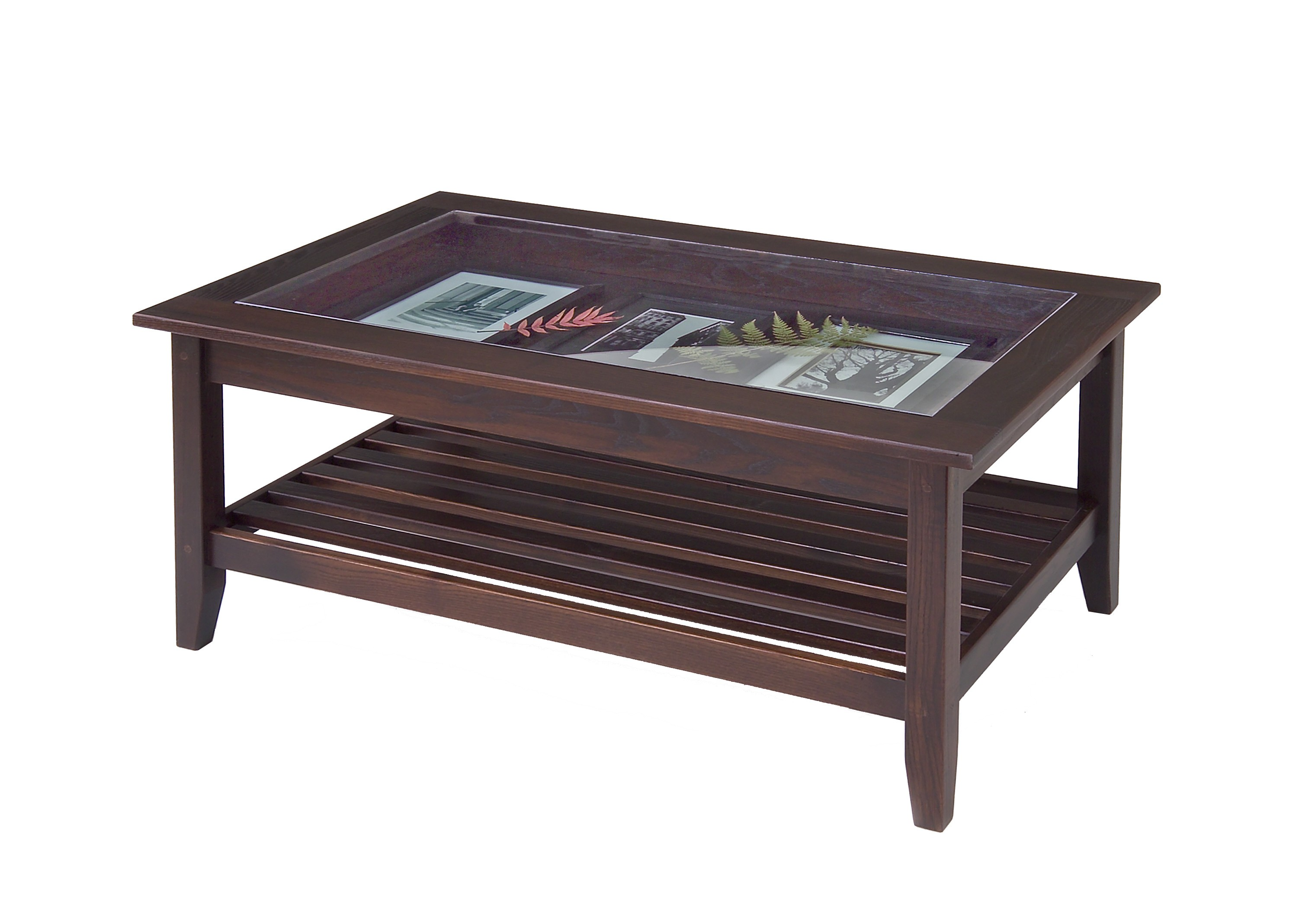 Wood With Glass Top Coffee Table A Glass Top Coffee Table Offers Living In Eloquent Style While Providing Items For Display As Well As Functional Design (Image 2 of 10)