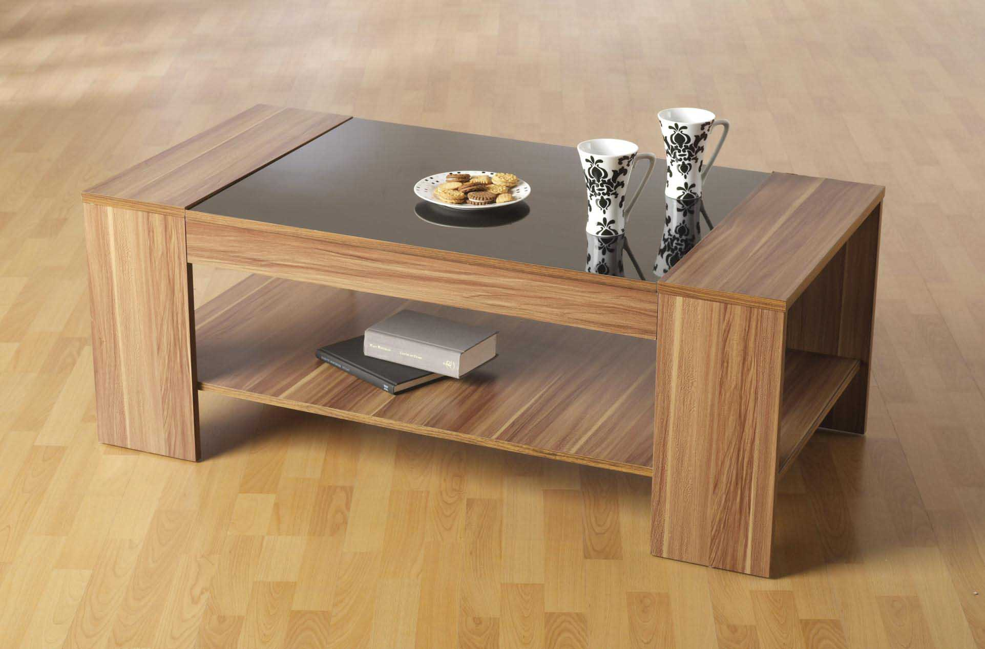 Wood With Glass Top Coffee Table Eton Solid Oak Living Room Lounge Furniture Storage Coffee Table With Drawers (Image 4 of 10)