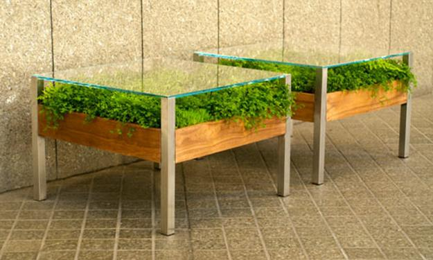 Wooden Coffee Table Designs With Glass Top Contemporary Gardening Coffee Tables Green Table Diy Balcony Greenhouse (Image 2 of 10)