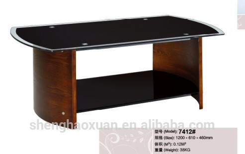 Wooden Coffee Table Designs With Glass Top Hot Selling Home Furniture Center Tables Design Solid Wood Coffee Tables With Glass Top (Image 5 of 10)