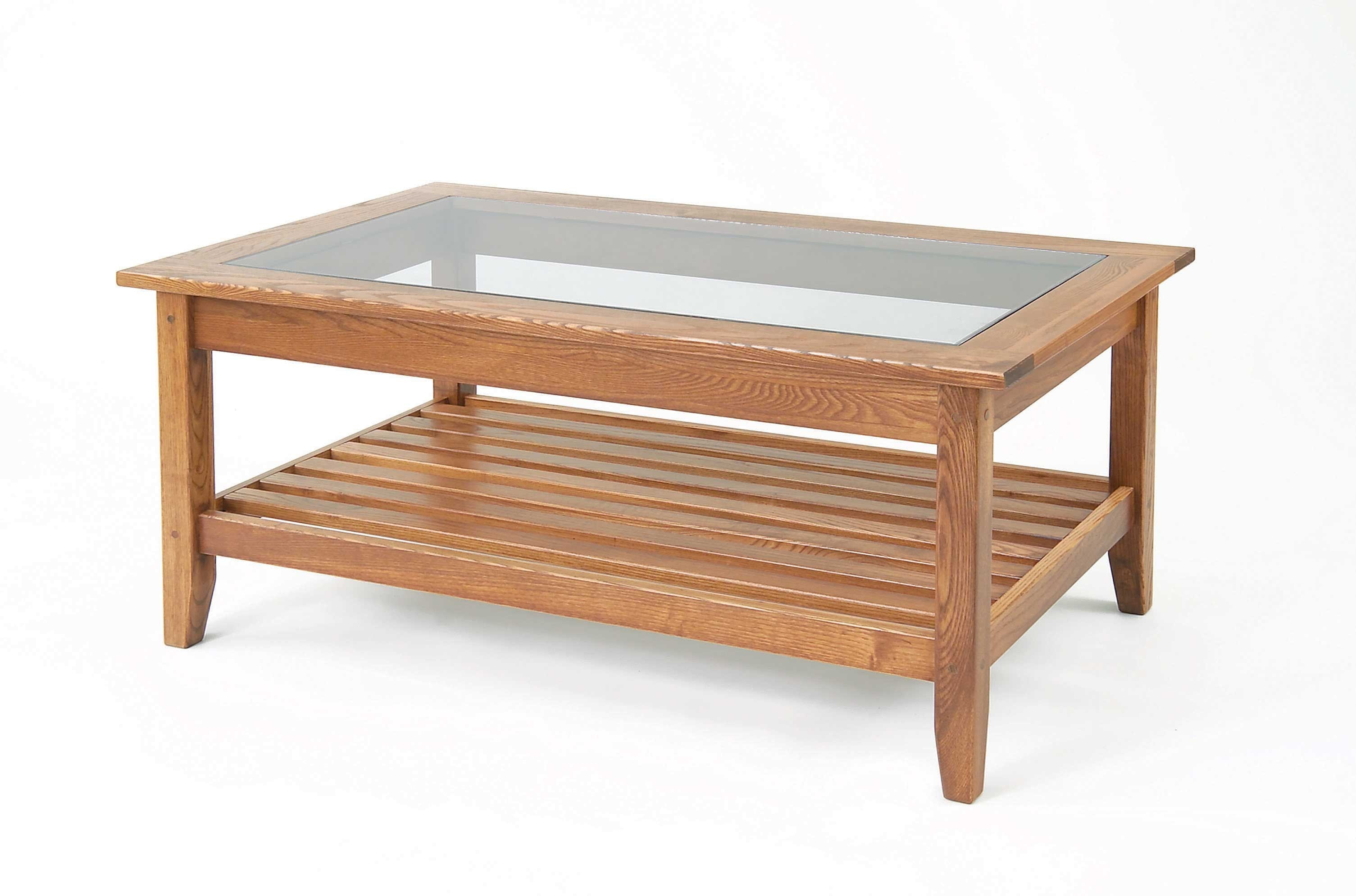 Wooden Coffee Table With Glass Top And Would Work Well In A Reception Foyer Club Or Bar As Well As The Home (View 4 of 11)