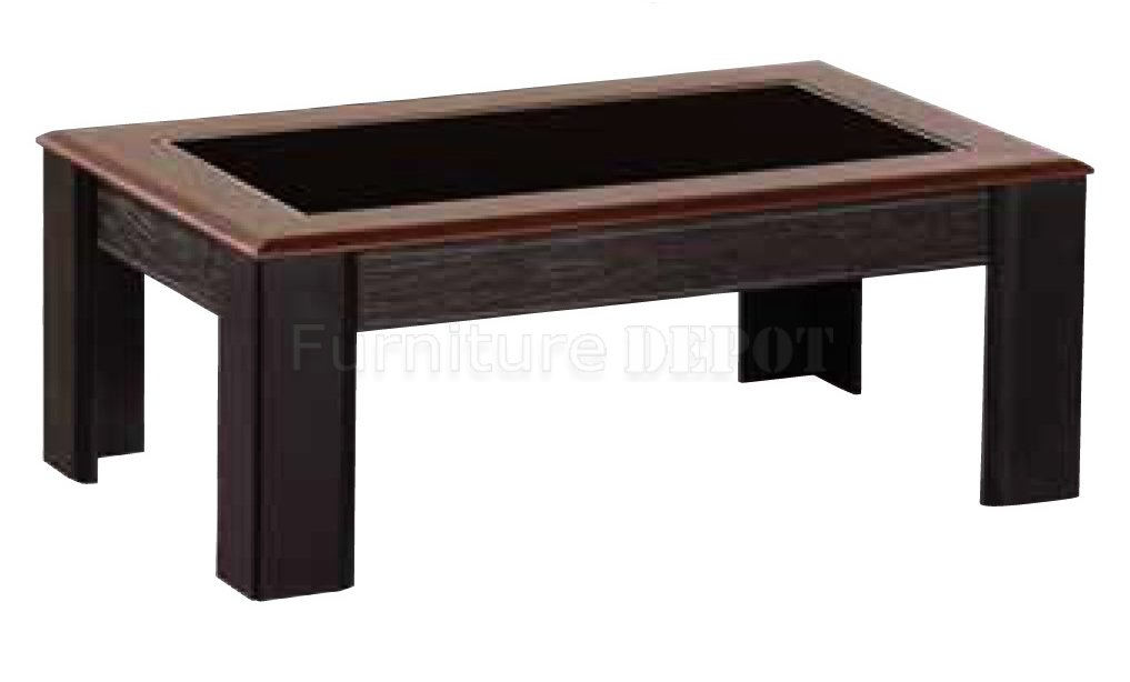 Wooden Coffee Table With Glass Top Winsome Wood Genoa Rectangular Coffee Table W Glass Top Shelf Contemporary (View 11 of 11)