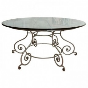 Wrought Iron And Glass Coffee Tables Round Glass Top Coffee Table Wrought Iron Round Glass Top Coffee Table Wrought Iron (Image 10 of 10)