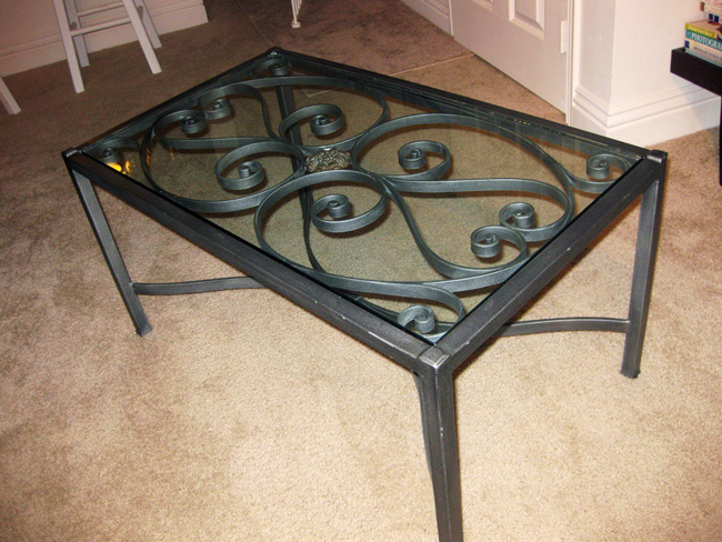 Wrought Iron Glass Top Coffee Table I Asked For Suggestions On Which Coffee Table To Buy I Made My Choice Only For It To Get Interminably Discontinued (View 6 of 10)