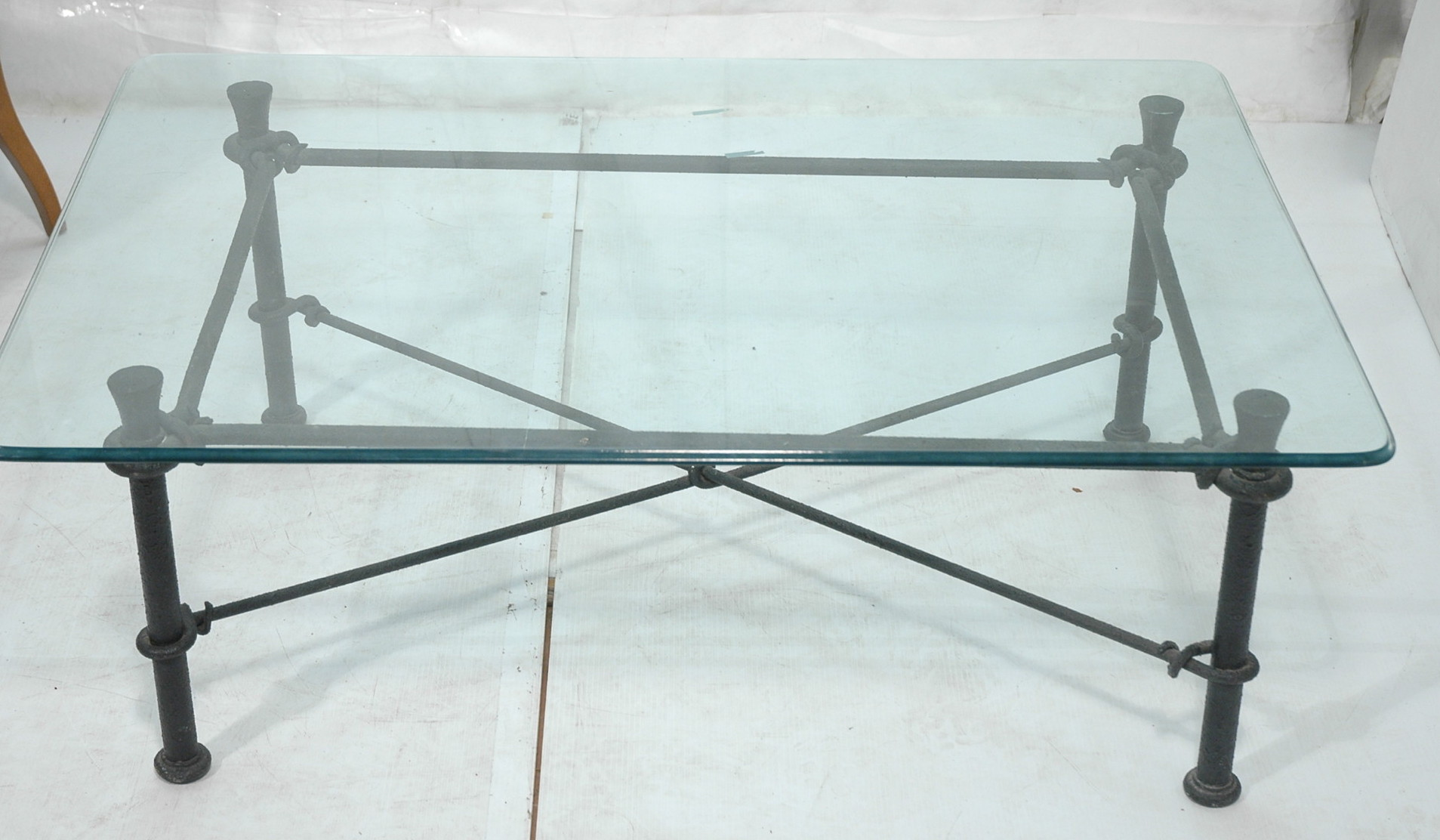 Wrought Iron Glass Top Coffee Table Handsome And Beautifully Crafted Wrought Iron Occasional Table Probably Quite Suitable As A Coffee Table (View 4 of 10)