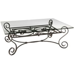 Wrought Iron Glass Top Coffee Table Has To Admire The Work That Went Into This European Inspired Creation (View 5 of 10)