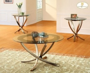 wylie-3-piece-coffee-table-set-bronze-finished-metal-legs-modern-style-round-glass-coffee-table-set (Image 10 of 10)