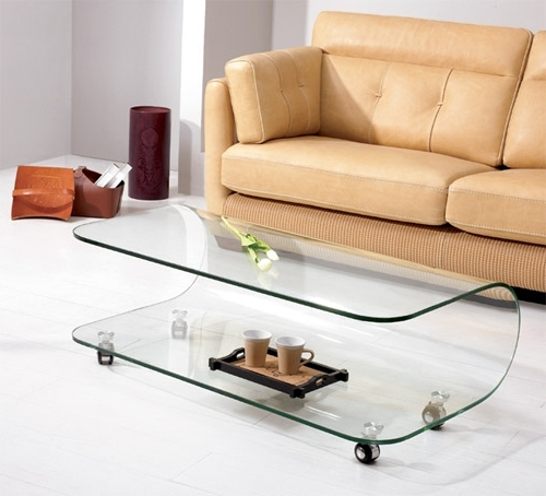 10 Contemporary Glass Coffee Tables With Minimalist Design perfectly for Unusual Glass Coffee Tables (Image 15 of 30)