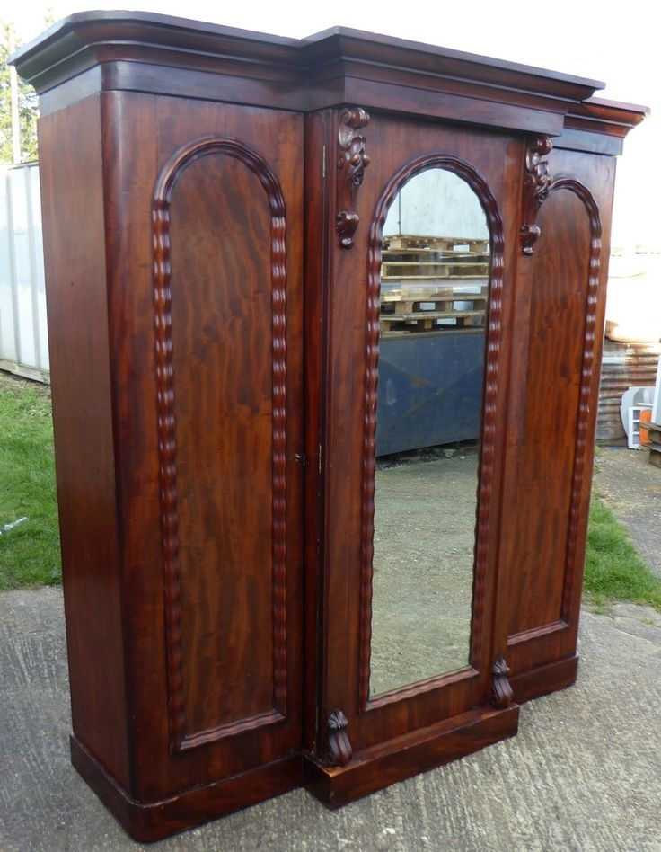 11 Best Antique Wardrobes Images On Pinterest effectively with regard to Victorian Mahogany Breakfront Wardrobe (Image 19 of 20)